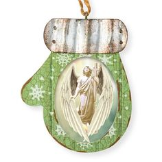 Angel Gabriel on CafePress.com Holiday Lights, Holiday Decor, Vintage Winter, Ornaments Design, Angel Art, Time To Celebrate, Holiday Traditions, How To Make Ornaments, Wood And Metal
