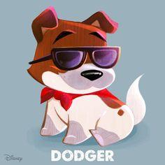 Too doggone cute! Disney Films, Disney And Dreamworks, Disney Characters, Disney Magic, Disney Art, Disney Stuff, Disney Doodles, Oliver And Company, Cute Disney Drawings