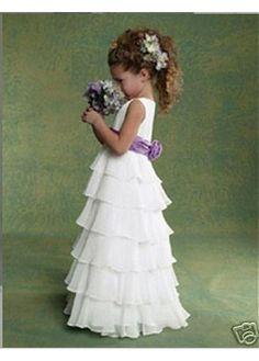 MaKayla will look beautiful in this Flower Girl Dress!  Blue not purple