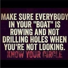 Know who your Friends are....