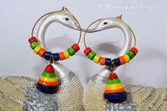 Prayoshika Crafts: Colorful rings with Jhumka......