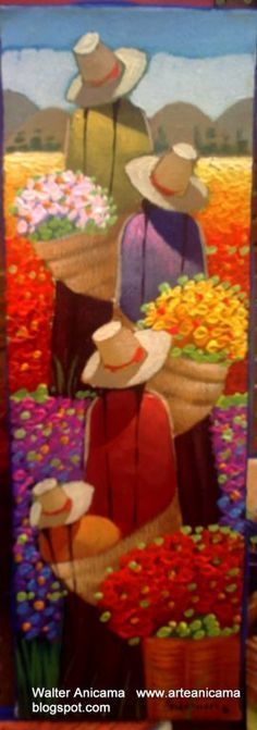 campo1 Más Fabric Painting, Watercolor Paintings, Naive Art, Mexican Folk Art, Flower Art, Art Drawings, Art Projects, Abstract Art, Canvas Art
