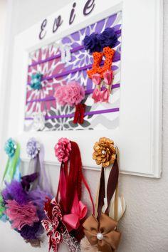 DIY hair accessories organizer, DIY organizer for hair clip and headband, how to make a framed hair organizer, jewelry organizer, Hair accessories storage