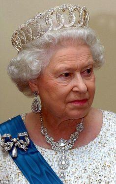 Her Majesty wearing the Vladimir Tiara