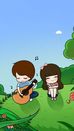 Ideas for wall paper cartoon couple sweets Love Cartoon Couple, Chibi Couple, Cute Love Cartoons, Anime Love Couple, Cute Anime Couples, Couple Pics, Hug Cartoon, Cartoon Pics, Cartoon Drawings