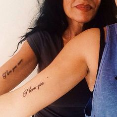 #Mother and #daughter #tattoos  #Love always wins