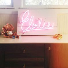 Styling so many fun vignettes for our shoot of @Taylor Sterling's nursery/office for baby Elodie. Neon sign by @Monika Hibbs @shopbymo...