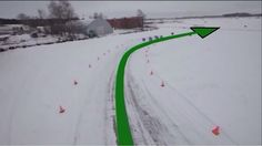 Как правильно входить в поворот на ледяной дороге?