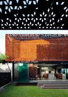 Steendyk Architects, design disciplines with experiments in laser-cut steel in Brisbane, Australia – topboxdesign.com