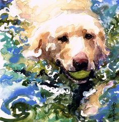I love Molly's artwork - You should go to this site! Head Above Water Painting - Head Above Water Fine Art Print