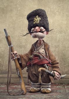 [image] Title: Haidutin Name: Borislav Kechashki Country: Bulgaria Software: max ZBrush Photoshop Submitted: January 2015 Character I did as a guest artist in Miro Petrov's artbook. Character Concept, Character Art, Concept Art, Ooak Dolls, Art Dolls, Marionette, Toy Art, Illustration, Arte Horror