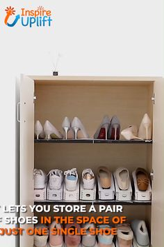 With the handy Shoe Rack (Set of however, you are in possession of the ultimate space saver to help you organize both the storage and closet areas of your home. Diy Organizer, Closet Organization, Kitchen Organization, Purse Organizer Closet, Project Life Organization, Kitchen Organizers, Makeup Organization, Diy Bedroom Decor, Diy Home Decor