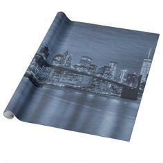 New York City Skyline Wrapping Paper  $19.95  by WeddingsByRhoadie  - custom gift idea
