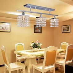 High Quality Crystal Chandelier with 3 Lights Lamp Ceiling Lighting - Linear…