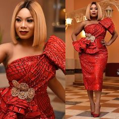 Exclusive Aso Ebi Gathered From the First Weekend Of - WearitAfrica - African Fashion Dresses African Lace Styles, African Lace Dresses, Latest African Fashion Dresses, African Print Fashion, Africa Fashion, Ankara Styles, Ankara Tops, Ankara Skirt, Ankara Fashion