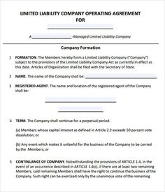 Sample Llc Operating Agreement  Nwmp Stuff