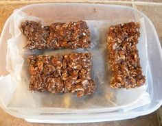 Peanut Butter Protein Bars from Food.com: I found this recipe on a web site for bodybuilders appropriately named, Bodybuilding.com This is a good post-workout snack, or mid-day snack for those people who are on the go.