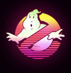 Ghostbusters logo by graphic designer Russ Gray : outrun