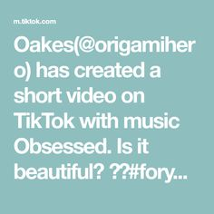 Oakes(@origamihero) has created a short video on TikTok with music Obsessed. Is it beautiful? 🥳🤩#foryou #manual #weave Bts Fans, Bts Jungkook, Videos, Texts, Love You, Music, The Originals, Learning, Eyeshadows