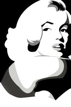 Malika Fabre, Marilyn Monroe Pop Art, Portrait Vector, Frida Art, Arte Tribal, Stencil Art, Stencils, Norma Jeane, Arte Pop