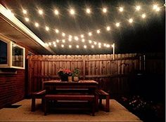 Ticoze Patio Lights G40 Globe Dancing Christmas Party String Lights Outdoor Indoor Lighting with 25 Clear Ball Bulbs for Garden Backyard Holiday Bedroom Vintage Ambience Decorative 25ft Green Wire - - Amazon.com