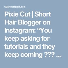 """Pixie Cut 
