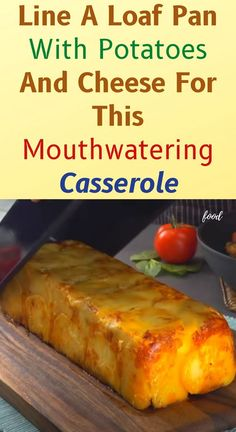 Line A Loaf Pan With Potatoes And Cheese For This Mouthwatering Casserole Vegetable Dishes, Vegetable Recipes, Beef Recipes, Cooking Recipes, Entree Recipes, Potato Recipes, Easy Recipes, Potato Dishes, Kitchens