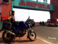 Ampera bridge city landmark of Palembang South Sumatra capital www.sumselprov.go.id http://en.m.wikipedia.org/wiki/Ampera_Bridge -been here-