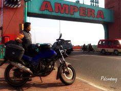 Ampera bridge city landmark of Palembang South Sumatra capital www.sumselprov.go.id http://en.m.wikipedia.org/wiki/Ampera_Bridge -been here-