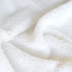 klassischer Frottee Baumwollstoff in weiß  für Handtuch Bademantel als Meterware