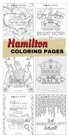 Free Printable Coloring Sheets, Free Coloring Pages, Coloring For Kids, Hamilton Poster, Hamilton Quotes, Alexander Hamilton Birthday, Hamilton Playbill, Broadway Stage, Broadway Lyrics
