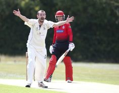 (Jul 18 2020) Andy Smith of Billericay CC claims LBW not given during Shepherd Neame Essex Cricket League Gooch Division between Billericay CC and Hornchurch CC at Toby Howe Cricket Club, Billericay, England, UK. (ESPA/Cal Sport Media/Sipa USA)