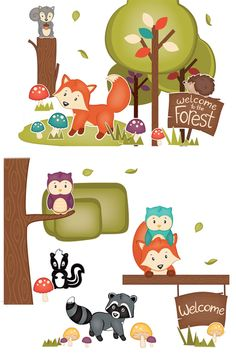 Renewing Minds Woodland Tails Bulletin Board Set, Multi-Colored, Set of 37 Pieces Preschool Rooms, Preschool Classroom, Classroom Themes, Preschool Activities, Kindergarten, Daycare Rooms, Woodland Animals Theme, Woodland Critters, Woodland Decor