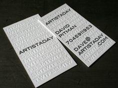 Cartões De Visitas E Seus Métodos Tipográficos Creative Business Cardsideas
