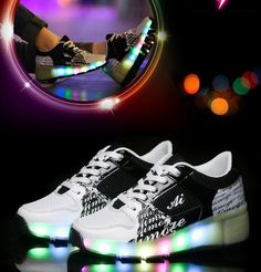 2016 New New Casual Skate Board Sneakers Men//Women Shoes Large Luminous Shoes Sports Shoes no!no
