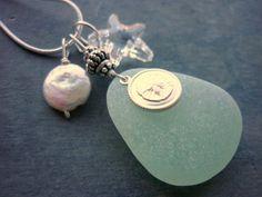 Sea Glass Necklace Sea Glass Jewelry Beach by TheMysticMermaid