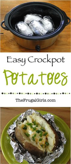 Easy Crock Pot Recipes are a lifesaver, and these Crock Pot Baked Potatoes are the perfect addition to your weekly dinner menu! Well... it's hardly a recipe ~ more of a simple 'I-Can't-Believe-It's...