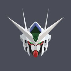 #gundam #head #vector #00qant by frozenite