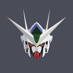 #gundam #head #vector #00qant by frozenite