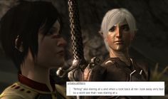 welcome to the mage hell spiral — Dragon Age II + text posts Just wasting time...