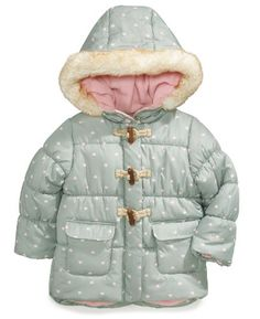 TOPSELLER! Carter's Girls Faux Fur Trim Hooded T... $29.95