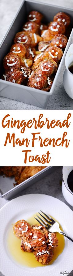 This Gingerbread Man French Toast recipe is perfect for Christmas morning or for a fun weekend breakfast during the holiday season. Your kids will love the idea of eating gingerbread men for breakfast!