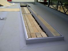 Insulated galvanised steel upstand - ready for our barrel vault #rooflight installation