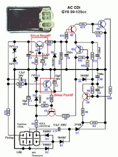 Electronics Mini Projects, Electronic Circuit Projects, Electronics Basics, Engineering Notes, Electronic Engineering, Honda Tiger, Motorcycle Wiring, Electrical Circuit Diagram, Electronic Schematics