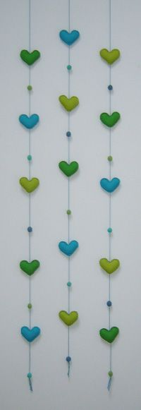 groen turquoise 057 Home Deco, Wedding Events, Hearts, Nursery, Cute, Blinds, Birds, Kids, Baby Room
