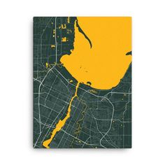 Green Bay Packers Map Canvas