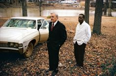 William Eggleston, ,[object Object],, 1969-1970 (the artist's uncle, Adyn Schuyler Senior, with assistant and driver, Jasper Staples, in Cassidy Bayou, Sumner, Mississippi)