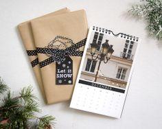 2014 Paris Calendar, French Wall Calendar, Paris Photography by Nichole Robertson