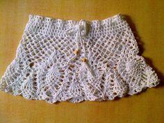mini falda pollera para bikini salida playa tejidos crochet