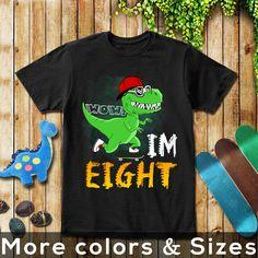 Kids T-shirt Dinosaur Roarsome Age 8 Happy 8th Birthday Funny Present Gift